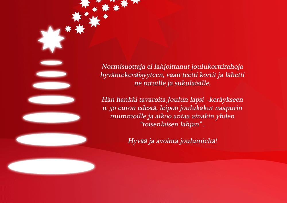 Normisuorittajan joulupanostus