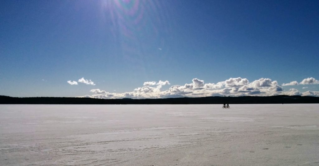 Muuratjärvi maaliskuussa 2017.